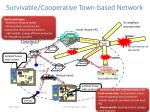 survivable cooperative town based network