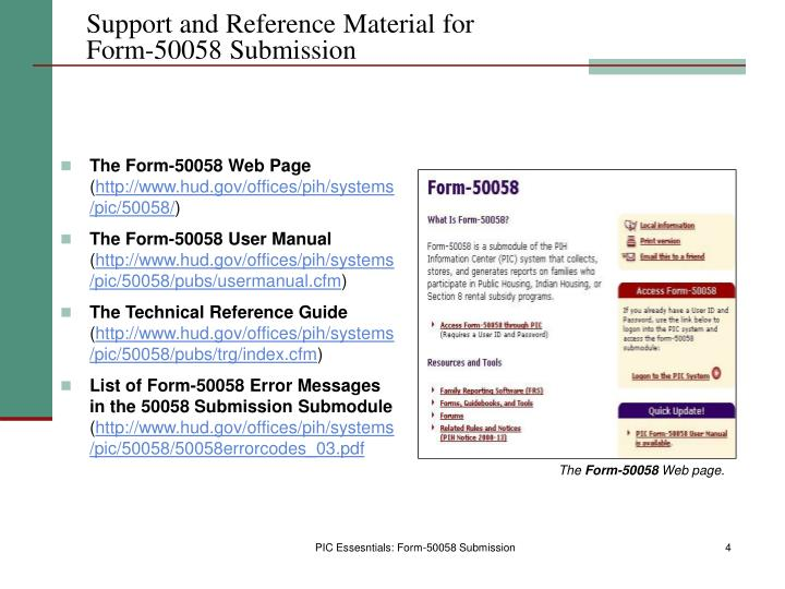 Support and Reference Material for