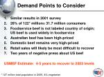 demand points to consider