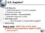 u s supplies