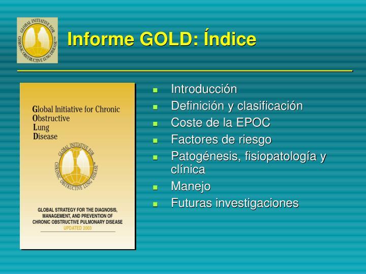 Informe GOLD: Índice