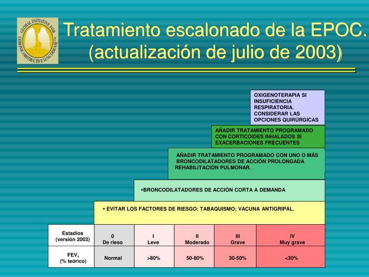 EVITAR LOS FACTORES DE RIESGO: TABAQUISMO; VACUNA ANTIGRIPAL.