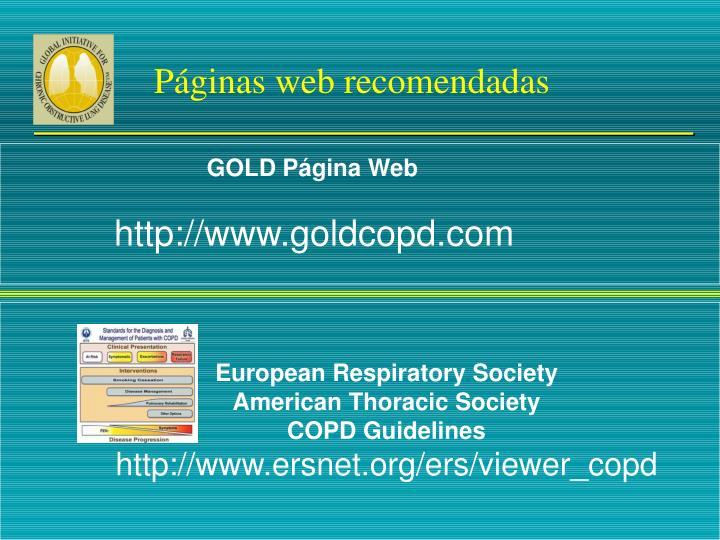 Páginas web recomendadas