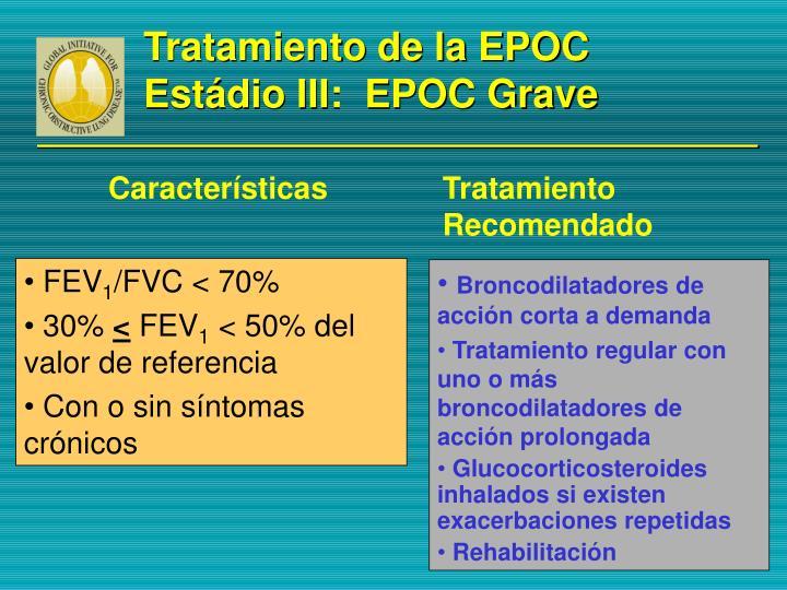 Tratamiento de la EPOC