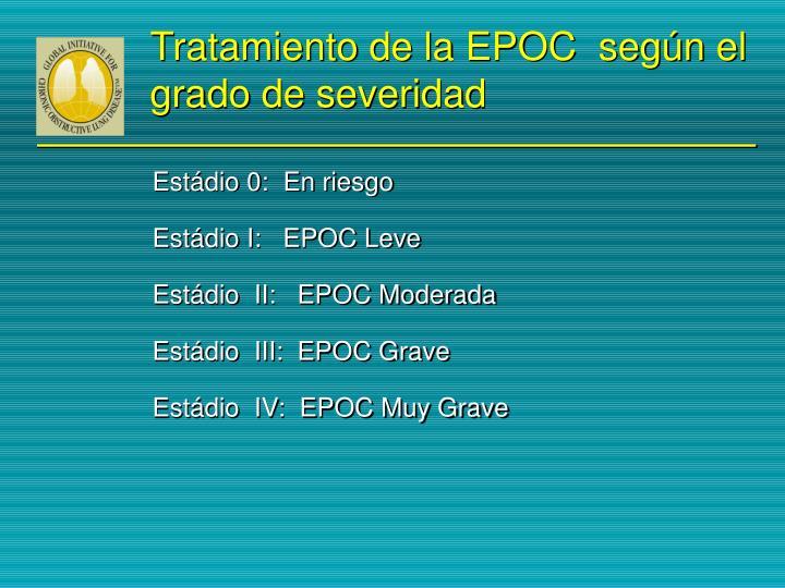 Tratamiento de la EPOC  según el grado de severidad