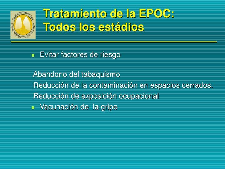 Tratamiento de la EPOC: