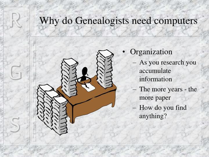 Why do Genealogists need computers
