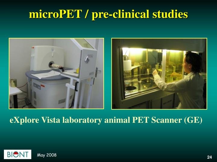 microPET / pre-clinical studies