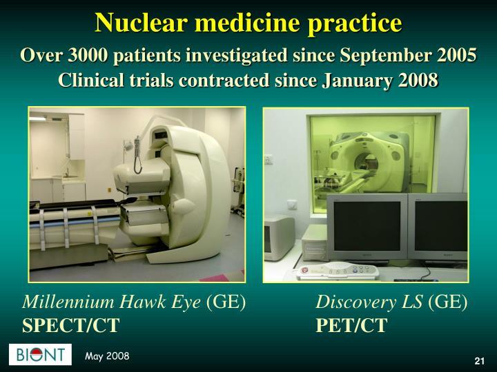 Nuclear medicine practice