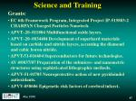 science and training