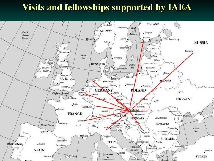 Visits and fellowships supported by IAEA