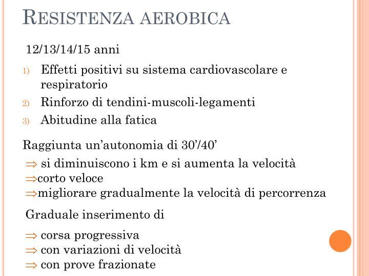 Resistenza aerobica