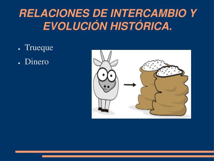 RELACIONES DE INTERCAMBIO Y EVOLUCIÓN HISTÓRICA.