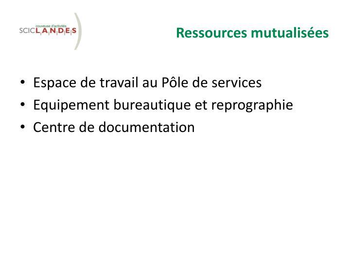 Ressources mutualisées