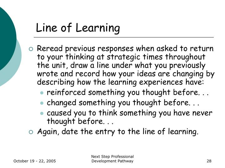 Line of Learning