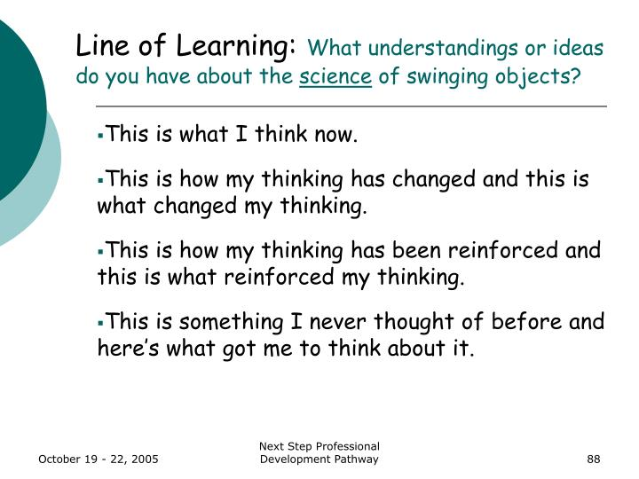 Line of Learning: