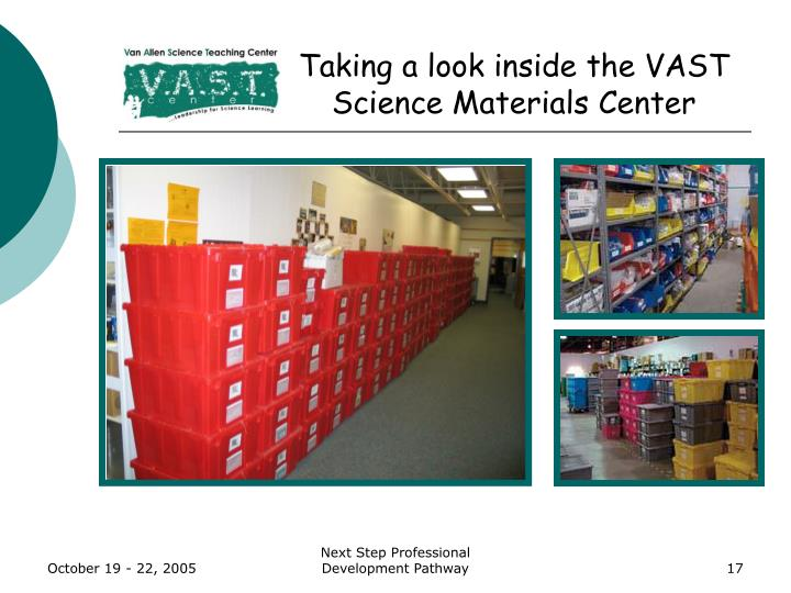 Taking a look inside the VAST Science Materials Center