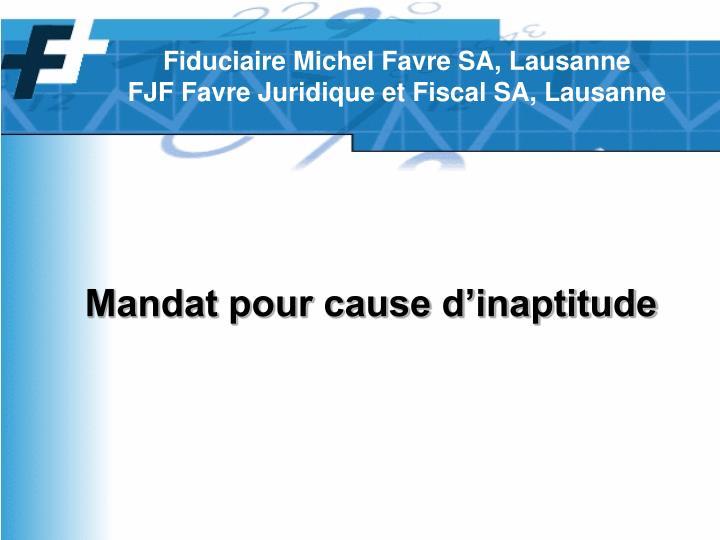 Fiduciaire Michel Favre SA, Lausanne