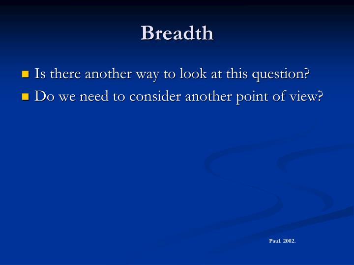 Breadth