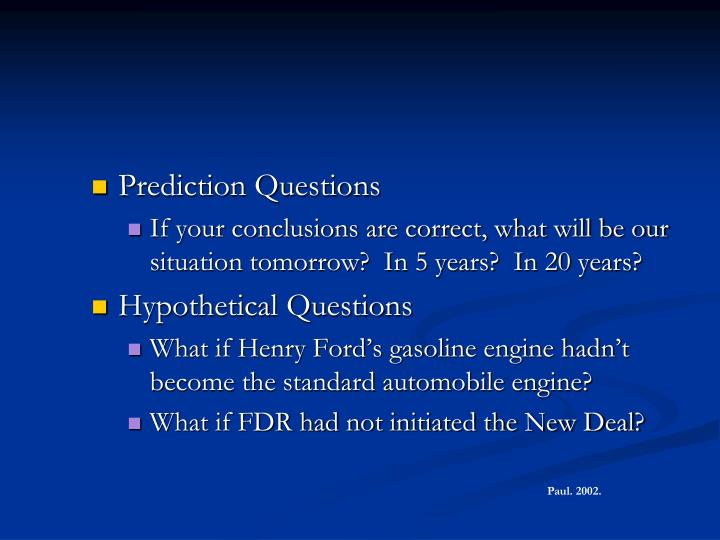 Prediction Questions