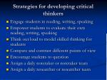strategies for developing critical thinkers