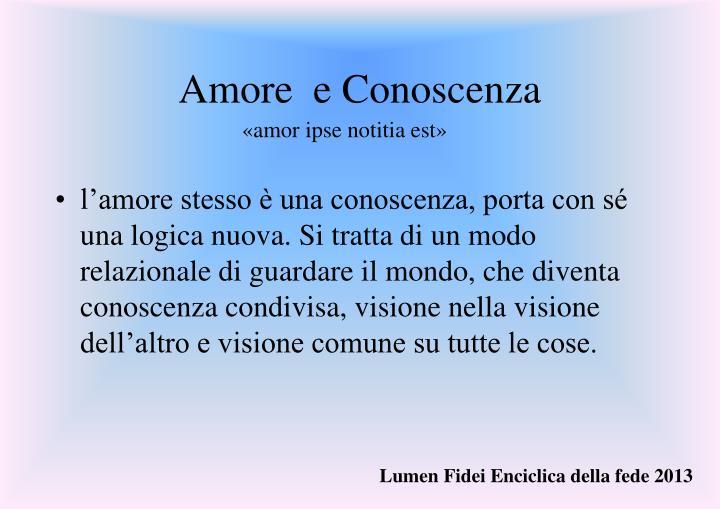 Amore  e Conoscenza
