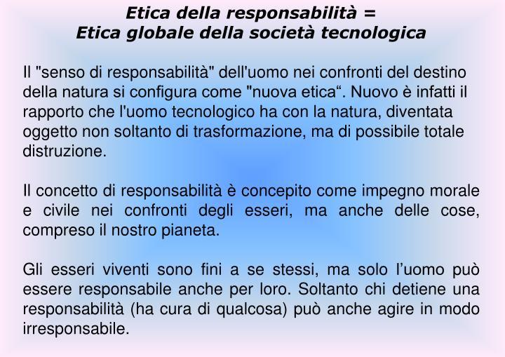 Etica della responsabilità =