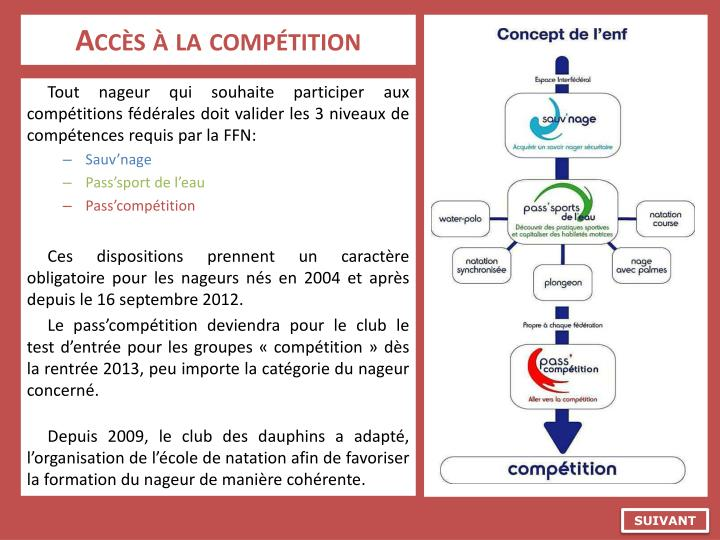 Acc s la comp tition