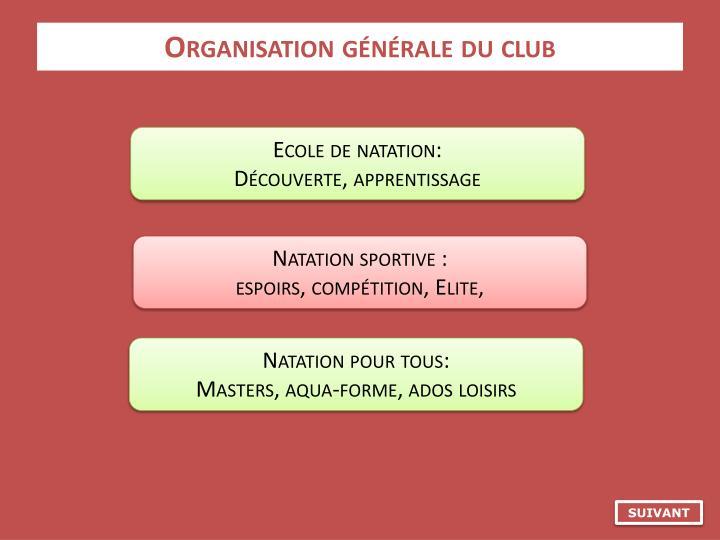Organisation générale du club