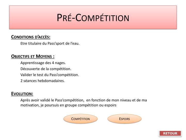 Pré-Compétition