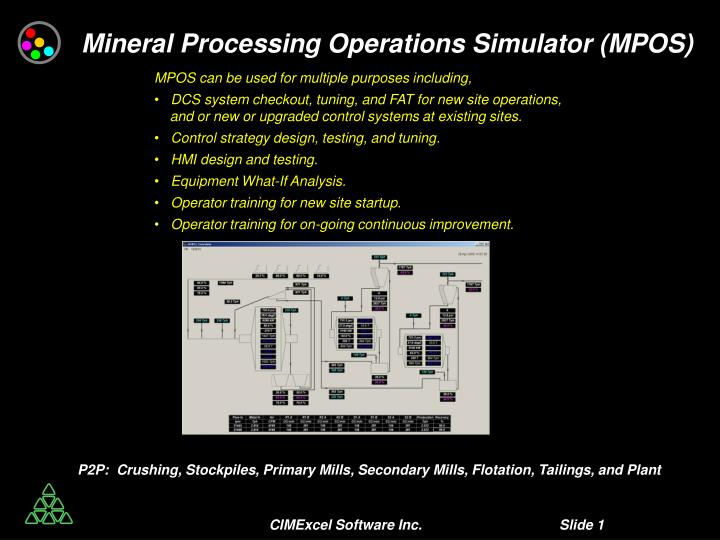 Mineral Processing Operations Simulator (MPOS)