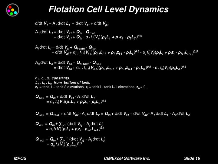 Flotation Cell Level Dynamics
