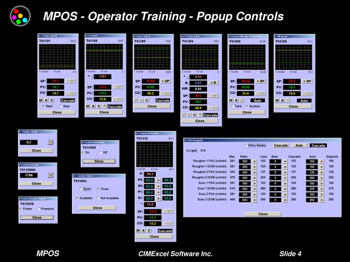 MPOS - Operator Training - Popup Controls