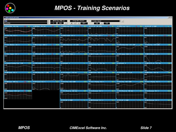 MPOS - Training Scenarios
