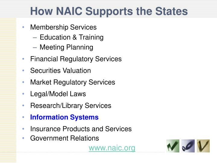 How NAIC Supports the States