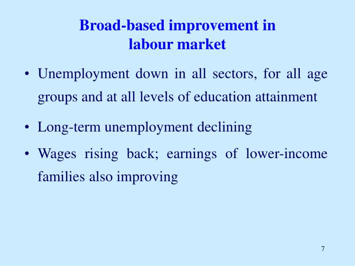 Broad-based improvement in