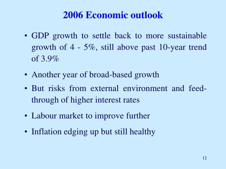 2006 Economic outlook