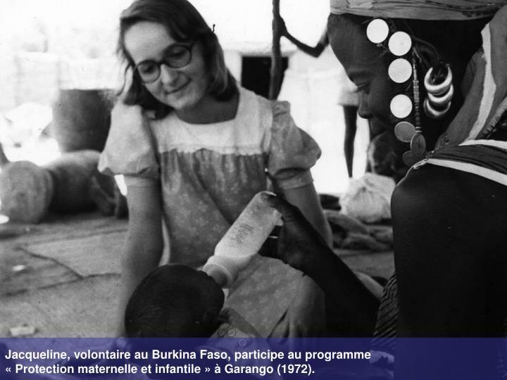 Jacqueline, volontaire au Burkina Faso, participe au programme