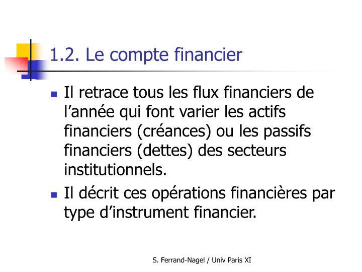 1.2. Le compte financier