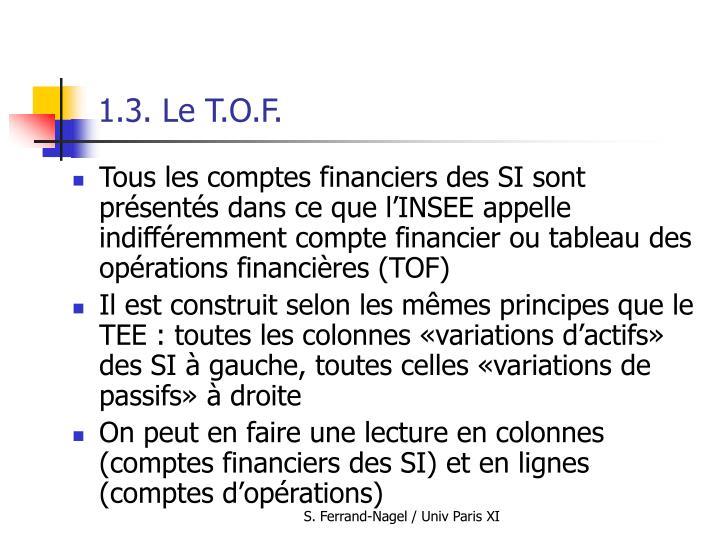 1.3. Le T.O.F.