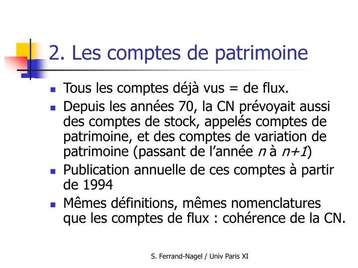 2. Les comptes de patrimoine