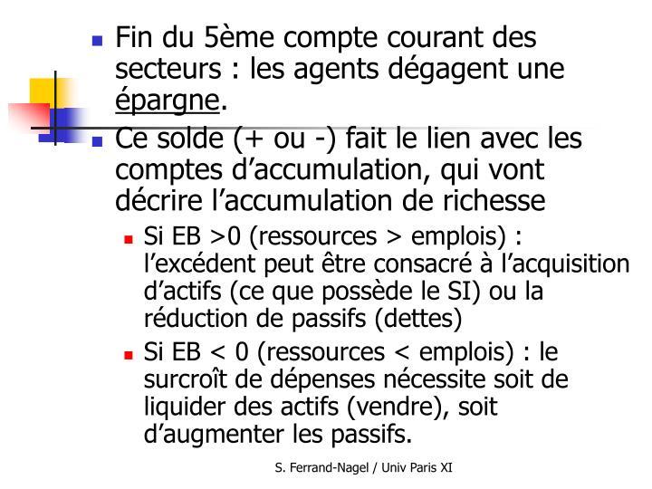 Fin du 5ème compte courant des secteurs : les agents dégagent une