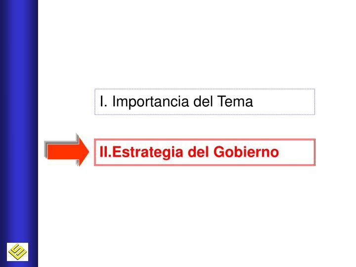 I. Importancia del Tema