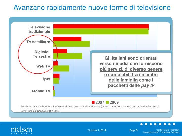 Gli italiani sono orientati verso i media che forniscono