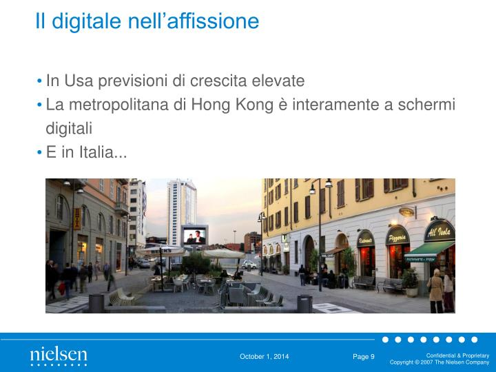 Il digitale nell'affissione