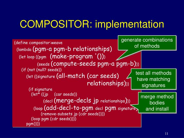 COMPOSITOR: implementation