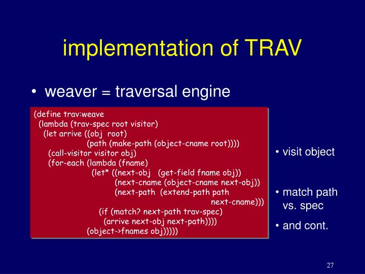 implementation of TRAV