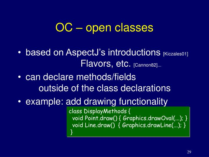 OC – open classes