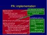 pa implementation