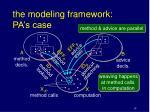 the modeling framework pa s case